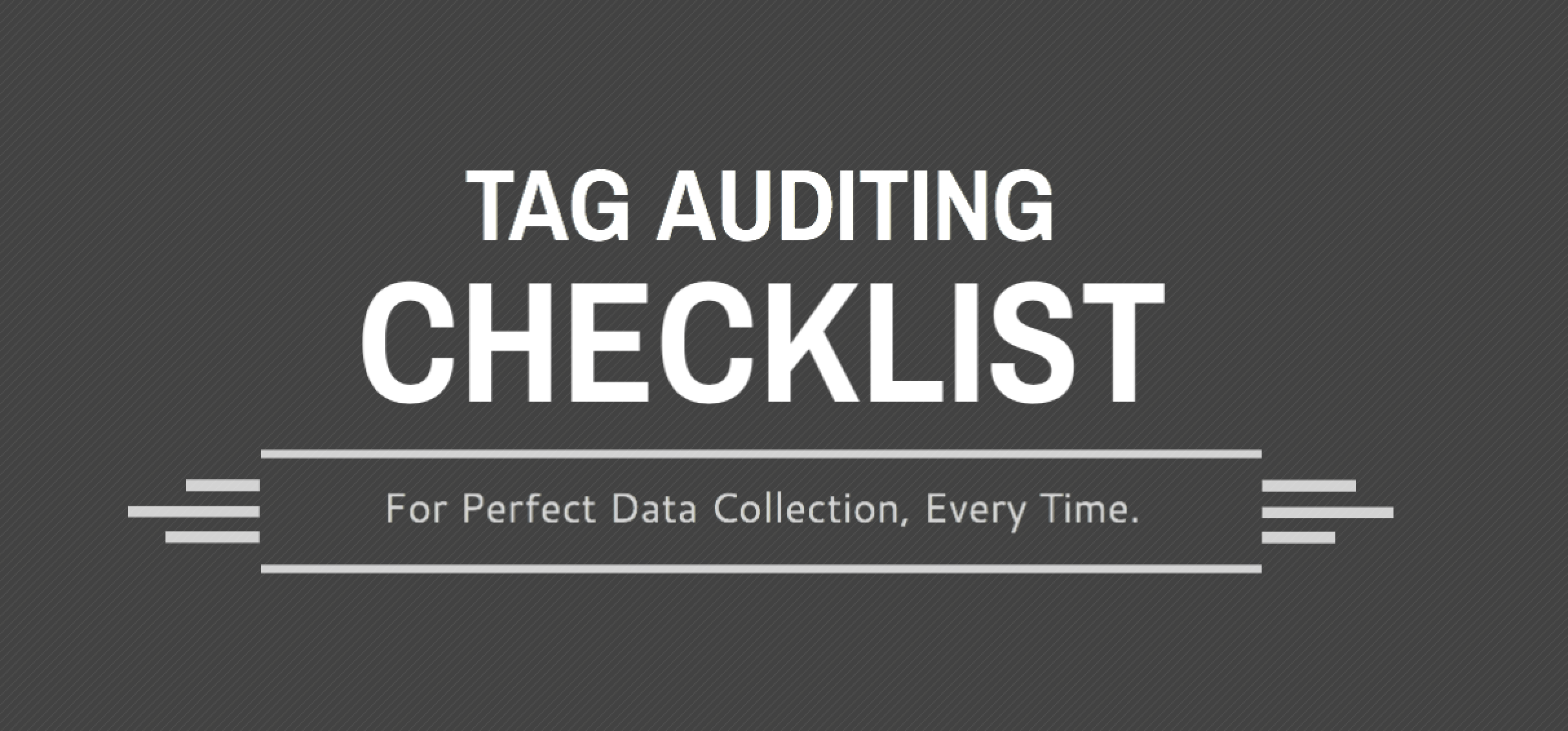 Tag Auditing Checklist Download