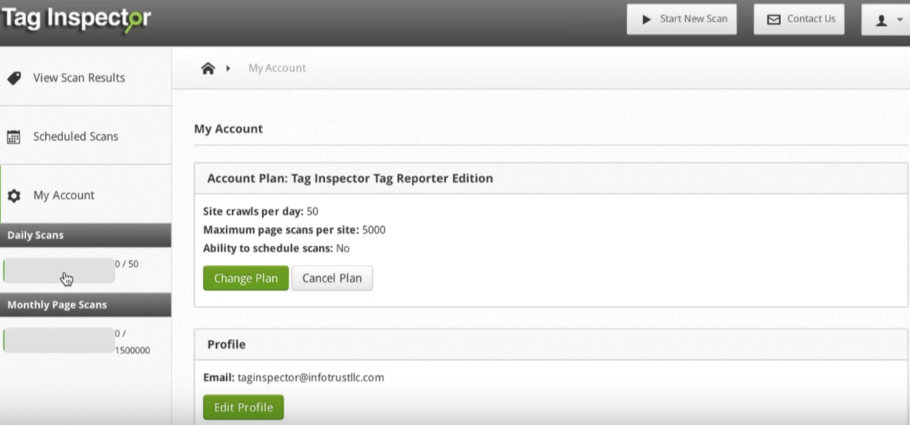 Tag Inspector - Navigating Account Management