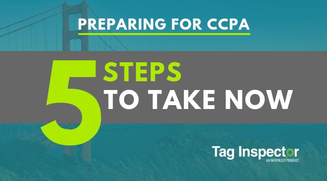 CCPA 5 steps to take now