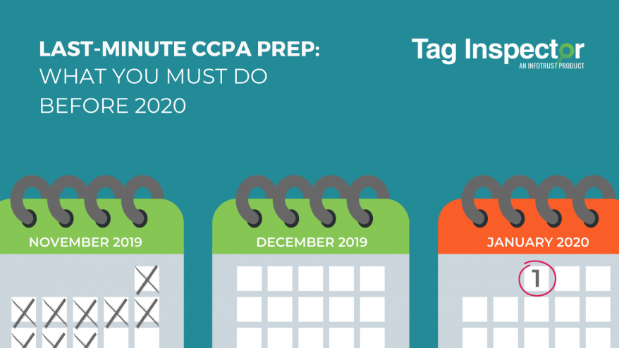 CCPA prep before January 2020