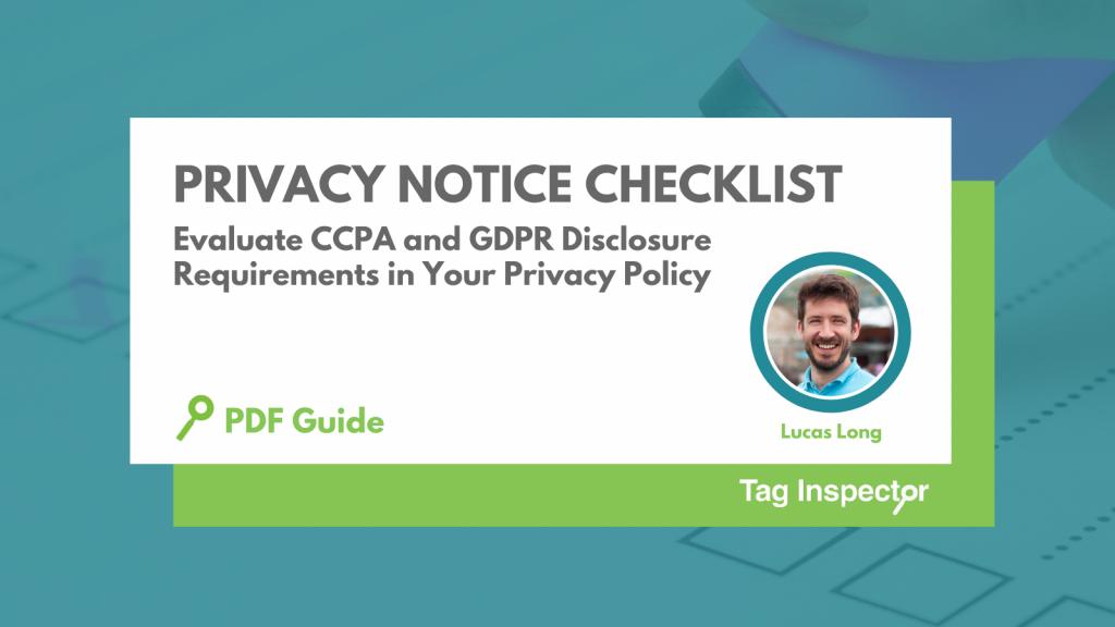 Privacy Notice Checklist Tag Inspector